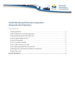 Financial Institutions Commission Frequently Asked Questions Page of Q PowerPoint PPT Presentation