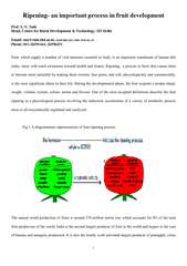 climacteric fruits do not ripen after harvest. Thus, in order to attai