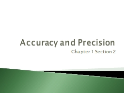 Accuracy and Precision PowerPoint PPT Presentation