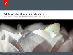 Adobe Acrobat XI Accessibility Features