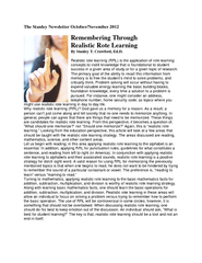 The Stanley Newsletter October/November 2012 By Stanley T. Crawford, E