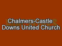 Chalmers-Castle Downs United Church