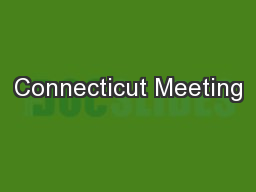 Connecticut Meeting