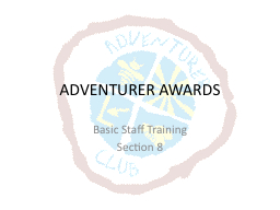 ADVENTURER AWARDS