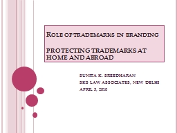 Role of trademarks in branding