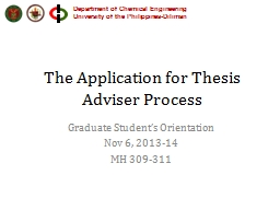 The Application for Thesis Adviser Process