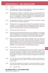 REGULATION 15 – AGE GRADE RUGBYGeneralThis Regulation 15 relates