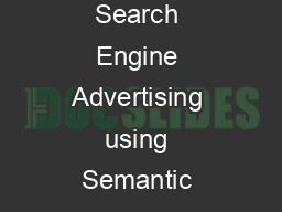 Keyword Generation for Search Engine Advertising using Semantic Similarity betwe