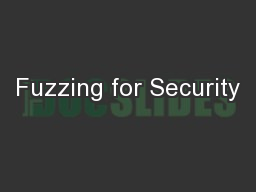 Fuzzing for Security