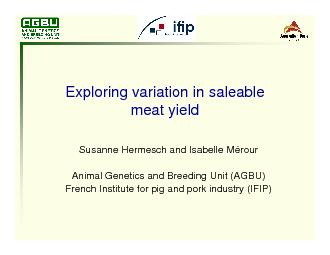 Exploring variation in saleable meat yield