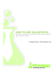 HOW TO HIRE SALEBy: Adam Robinson |  Chief Hireologist / CEO