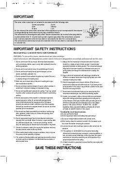 IMPORTANT SAFETY INSTRUCTIONS IMPORTANT READ CAREFULLY PowerPoint PPT Presentation