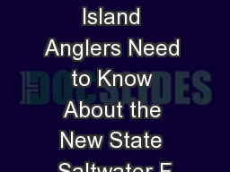 What Rhode Island Anglers Need to Know About the New State Saltwater F