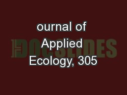 ournal of Applied Ecology, 305
