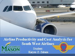 Airline Productivity and Cost PowerPoint PPT Presentation
