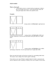 FIXED SASHES  What is a fixed sash?  PowerPoint PPT Presentation