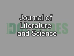 Journal of Literature and Science