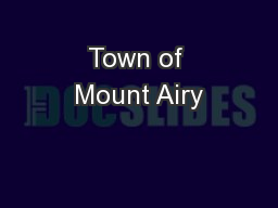Town of Mount Airy