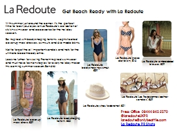 La Redoute bodyshaping swimsuit, £39 PowerPoint PPT Presentation