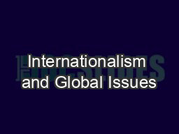 Internationalism and Global Issues