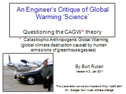 An Engineer�s Critique of Global Warming �Science�