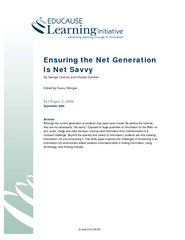 Ensuring the Net Generation Is Net Savvy PowerPoint PPT Presentation