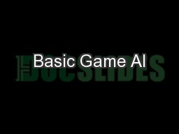 Basic Game AI