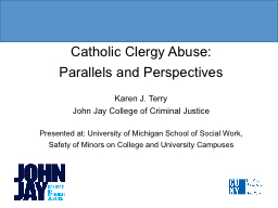 Catholic Clergy Abuse: