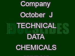 Eastman Kodak Company  October  J TECHNICAL DATA  CHEMICALS KODAK PROFESSIONAL D