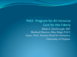 PACE: Program for All-Inclusive
