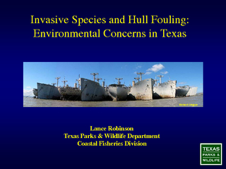 Invasive Species and Hull Fouling:Environmental Concerns in Texas ...