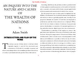 The Wealth of NationsAN INQUIRY INTO THENATURE AND CAUSESTHE WEALTH OF