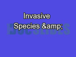 Invasive Species &