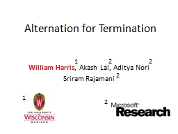 Alternation for Termination
