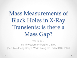 Mass Measurements of Black Holes in X-Ray Transients: is th PowerPoint PPT Presentation