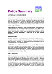 POLICY NOTE SERIES   SCOTTISH NATURAL HERITAGE  2000  Policy Summary