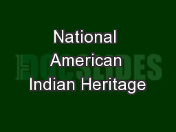 National American Indian Heritage