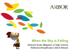 When the Sky is Falling PowerPoint PPT Presentation