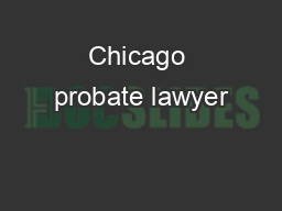 Chicago probate lawyer
