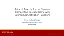 Price of Anarchy for the N-player Competitive Cascade Game