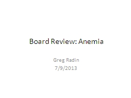 Board Review: Anemia