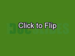 Click to Flip PowerPoint PPT Presentation