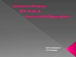 Literature Reviews,