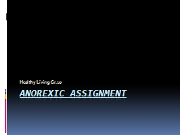 Anorexic Assignment