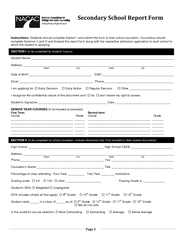 Students should complete Section I and submit the form to their schoo