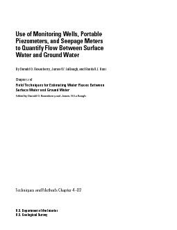 Water-Level Measurements and Flow-Net Analysis