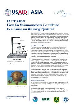 FACT SHEET  How Do Seismometers Contribute to a Tsunami Warning System PowerPoint PPT Presentation