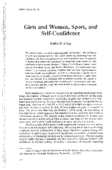 article explores research women's self-confidence in sport and physica