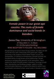 Female power in our great ape cousins: The roots of female