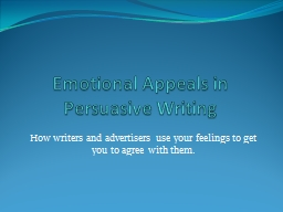 Emotional Appeals in PowerPoint PPT Presentation